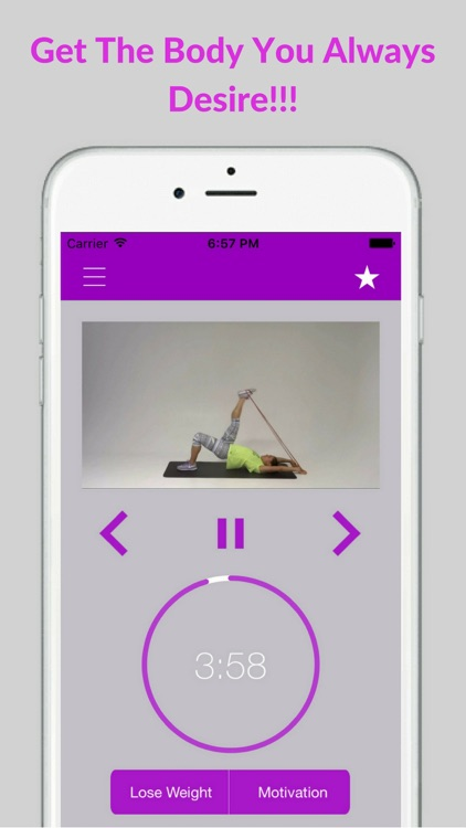 Resistance Band Loop Workouts for Women Exercises screenshot-4