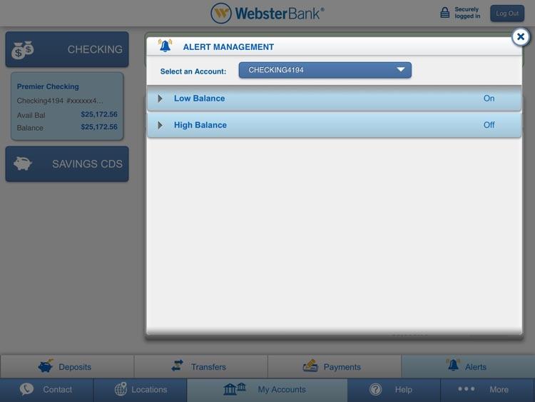 Webster Bank® Mobile for iPad screenshot-3