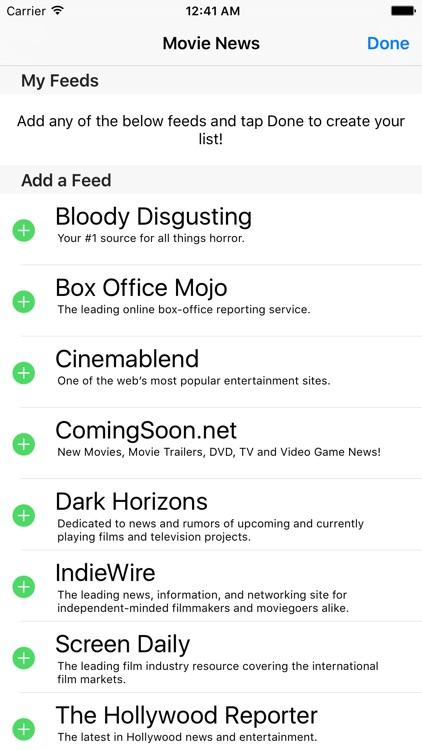 Movie News - A News Reader for Movie Fans! screenshot-3