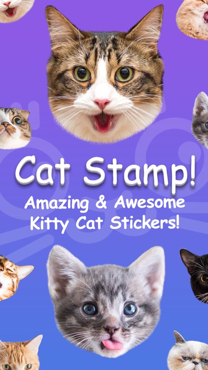 Cat Stamp! Cute Stickers of Cats screenshot-0