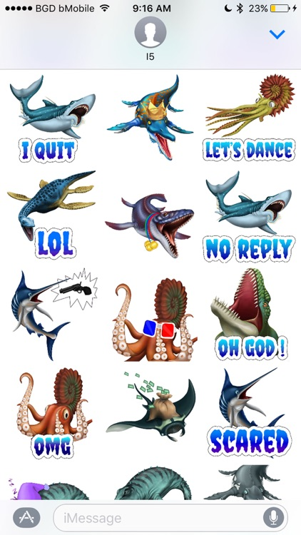 Dino Water World Stickers