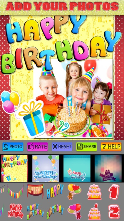 Happy Birthday Posters and Stickers Pro screenshot-3