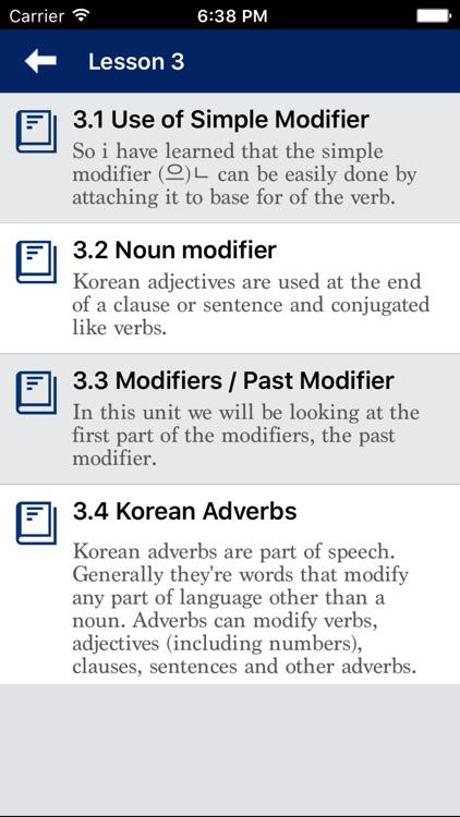 Korean Grammar - Improve your skill screenshot-3