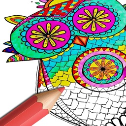Birds Mandala Coloring Book for Adults - Relax!