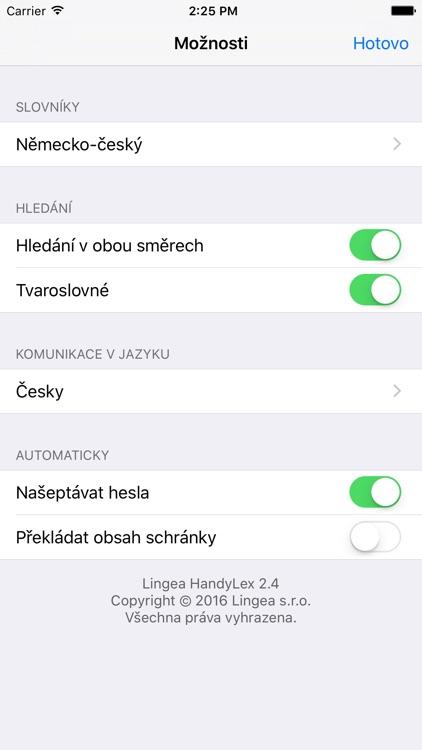 Lingea Německo-český kapesní slovník screenshot-4