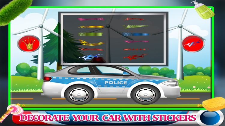 Police Car Wash Gas Station - Little Kids Fun Game screenshot-3