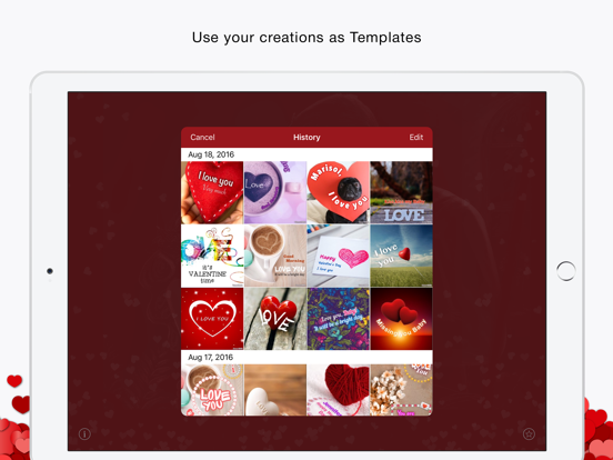 Love cards free (romantic and greeting cards) screenshot