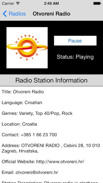 Croatia Radio Live Player (Hrvatska / hrvatski) screenshot-4