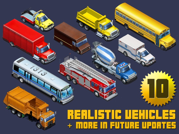 Kids Vehicles: City Trucks & Buses HD for the iPad screenshot-4