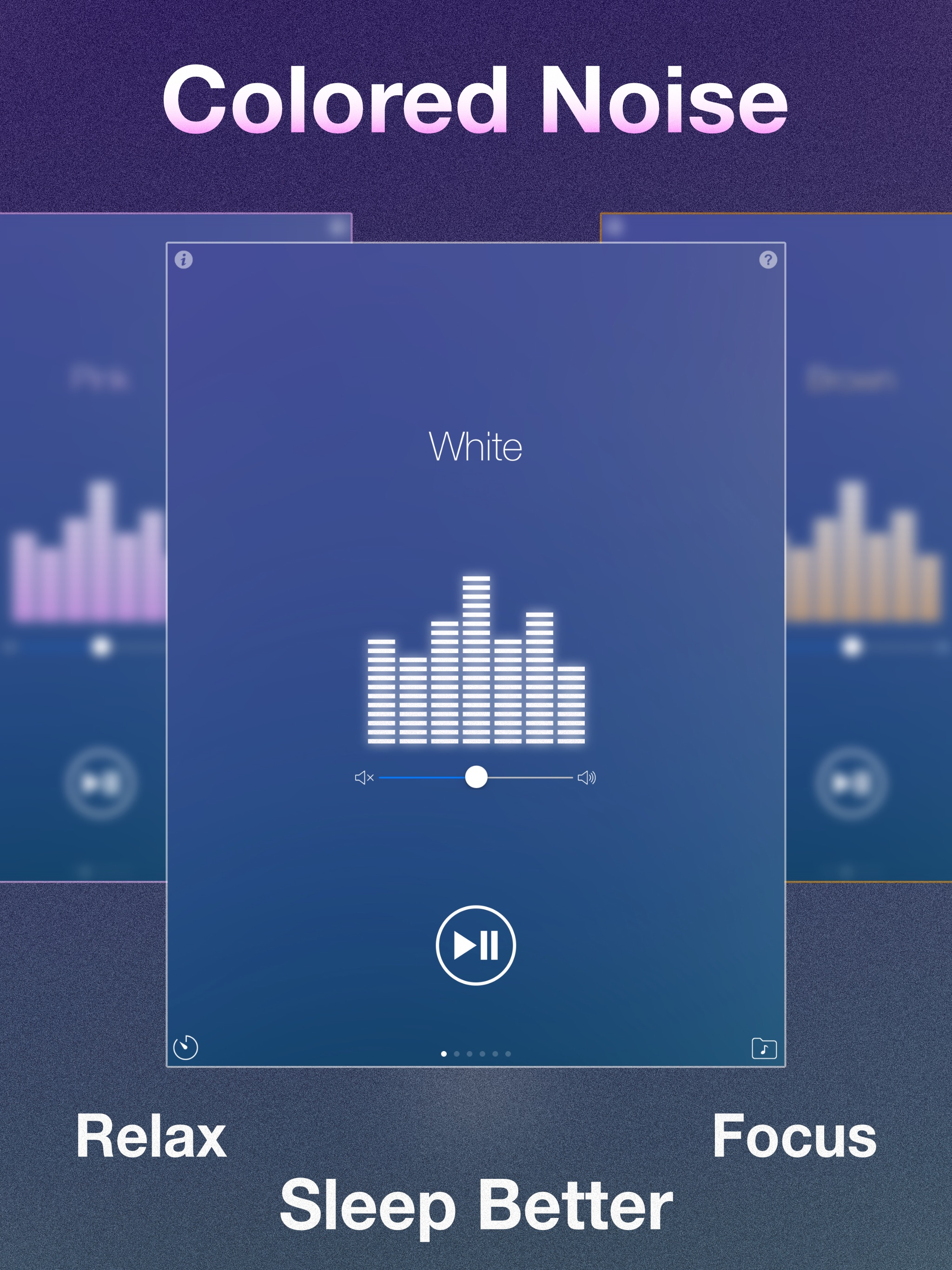 Experience the Benefits of Colored Noise with Noise Machine for iOS Image