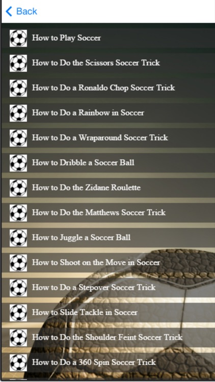 Soccer Tricks and Skills - Learn How To Play Soccer screenshot-4