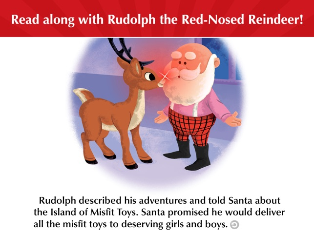 Rudolph the red nosed reindeer and santa talk