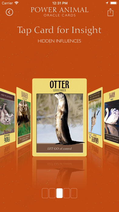 Power Animal Oracle Cards screenshot 3