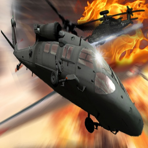 Air Combat Helicopter 3 - Black Hawk Helicopter In The Air Game icon