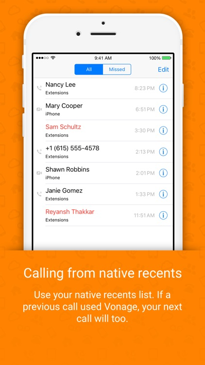 Vonage Extensions – Your Home Calls on your iPhone screenshot-4