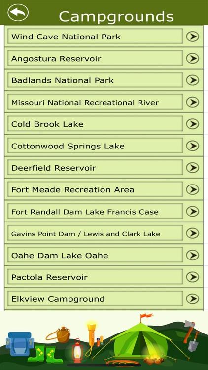South Dakota Camps & Trails
