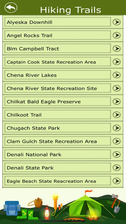 Alaska Campgrounds & Trails