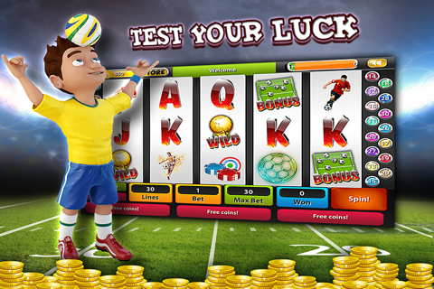 Soccer Champions Slots Machine Casino - Spin and Win The Big World League Cup of Cash Bonus! screenshot 1