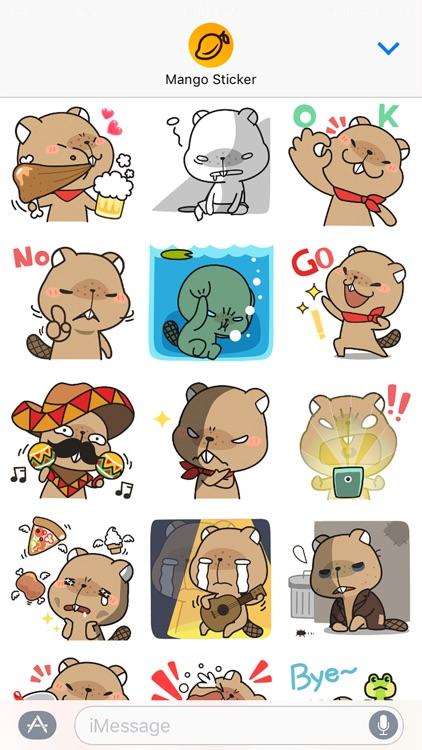 Grumpy Mr. Beaver - Mango Sticker