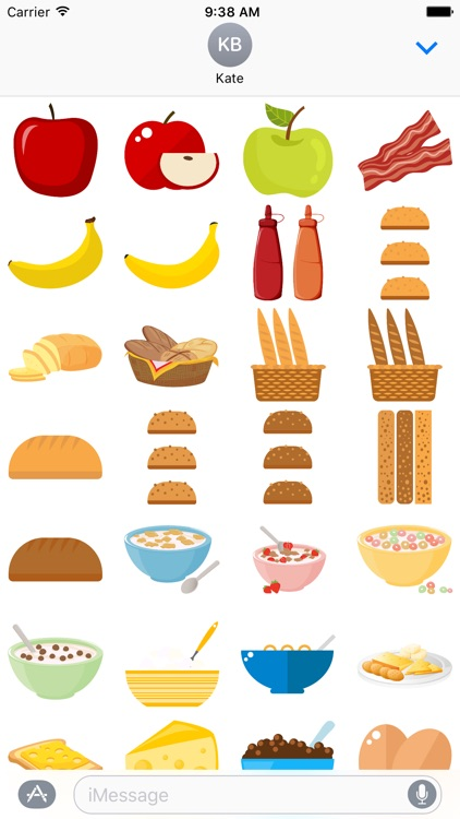 Breakfast Food for Stickers
