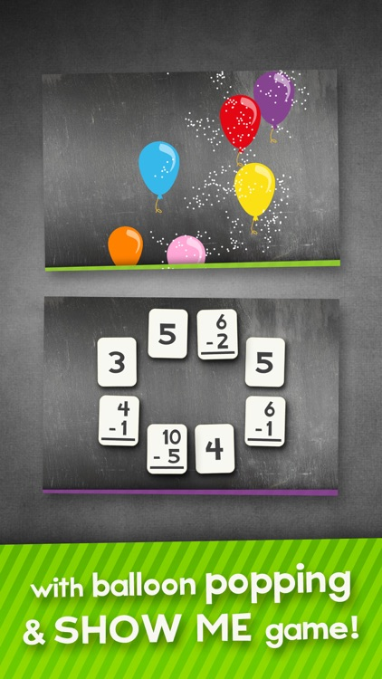 Addition and Subtraction Math Flashcard Match Games for Kids in 1st and 2nd Grade screenshot-3