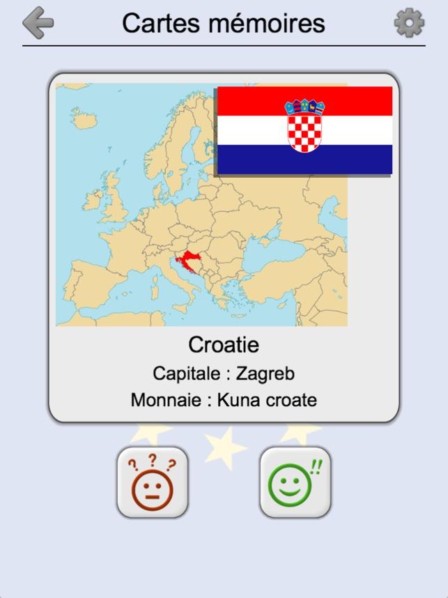 Carte De Leurope Avec Ses Capitales.Tous Les Pays D Europe Quiz Dans L App Store