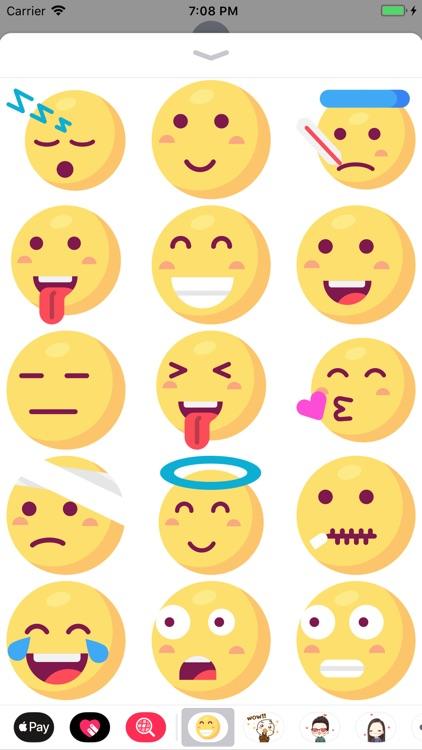Big Emoji: 50 Big Stickers screenshot-3