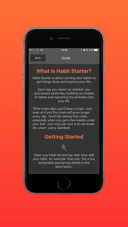 Habit Starter screenshot-4