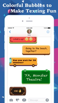 FancyBubble - Text and Emoji Themes for iMessage iphone images
