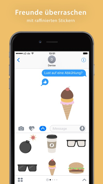 Hipster Sticker Pack - iMessage screenshot-3