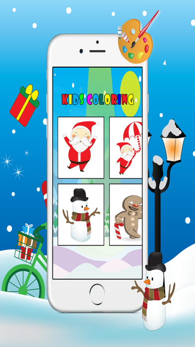 Christmas Coloring Book - Free Kids Colors Pages screenshot two