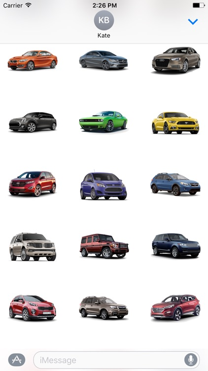 3D Cars Stickers
