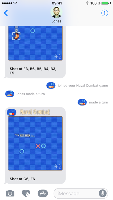 Naval Combat for iMessage screenshot one