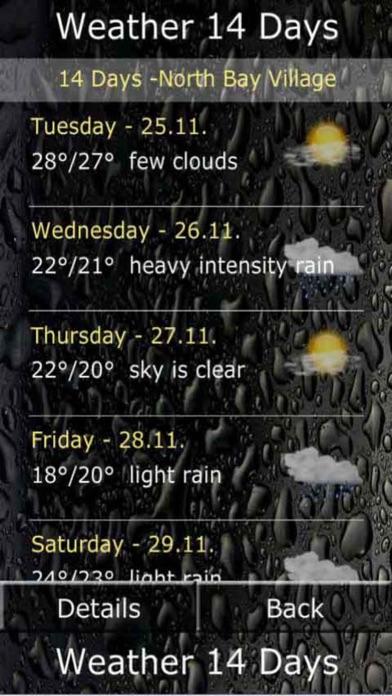 天氣數字14天屏幕截圖3