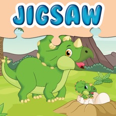 Activities of Jurassic Dinosaurs Jigsaw Puzzle - Planet Dinos Educational Puzzles Games to Help Kids and Kindergar...