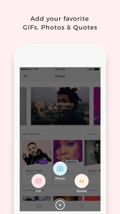 Often - Create & share your own keyboard with GIFs, Photos, & Quotes
