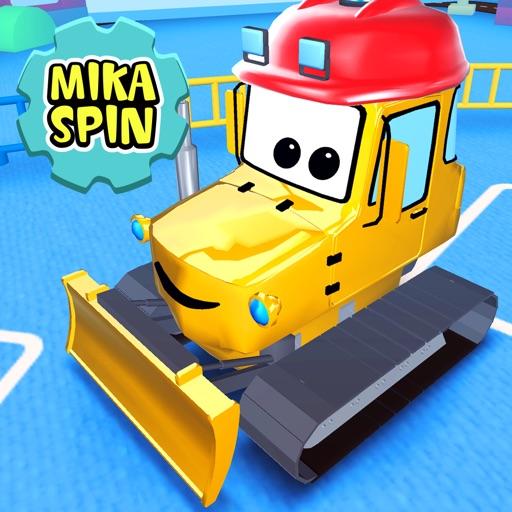 Mika 'Doz' Spin - bulldozer truck vehicle car game for kid