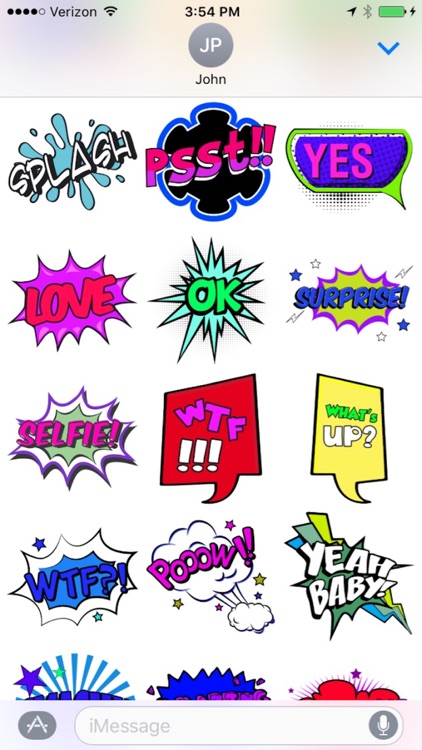 Comic Stickers for iMessages