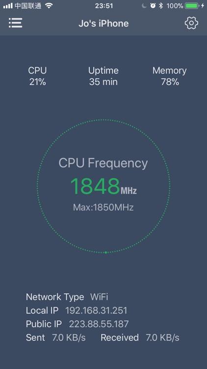 iDash - system dashboard