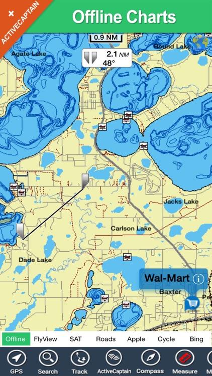 Lake Sakakawea North Dakota charts fishing maps