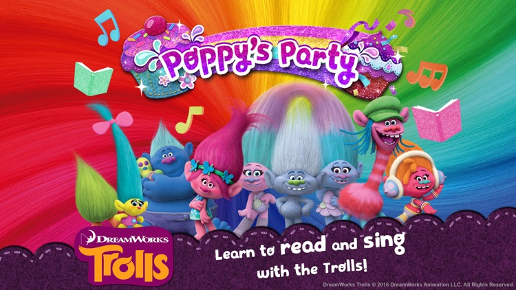 Trolls: Poppy's Party - Read and Sing-Along Book screenshot-0