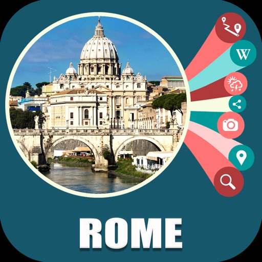 Rome Italy Offline Travel Map