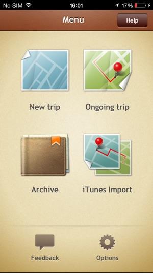 Trip Journal Screenshot