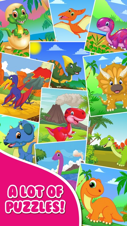 Dinosaur Jigsaw Puzzle.s Free Toddler.s Kids Games screenshot-4