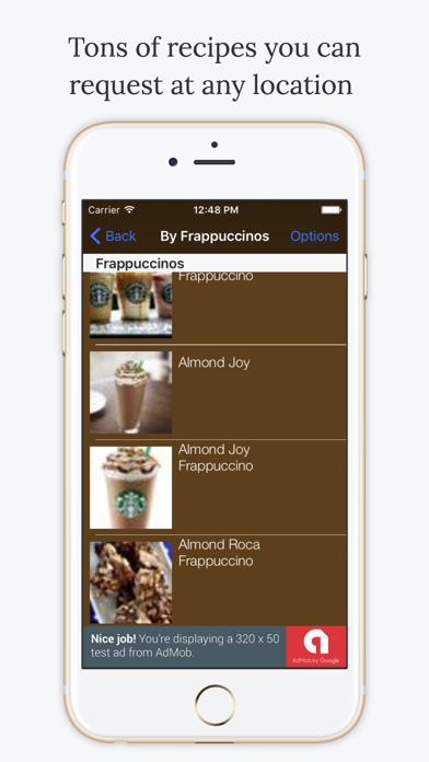 Secret Menu Starbucks Edition Free Screenshot