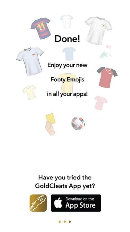GoldCleats - Soccer Emoji Keyboard