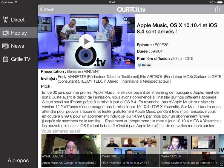 OUATCH TV (HD) screenshot-3