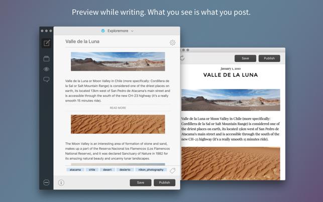 Blogo - Powerful blog editor Screenshot