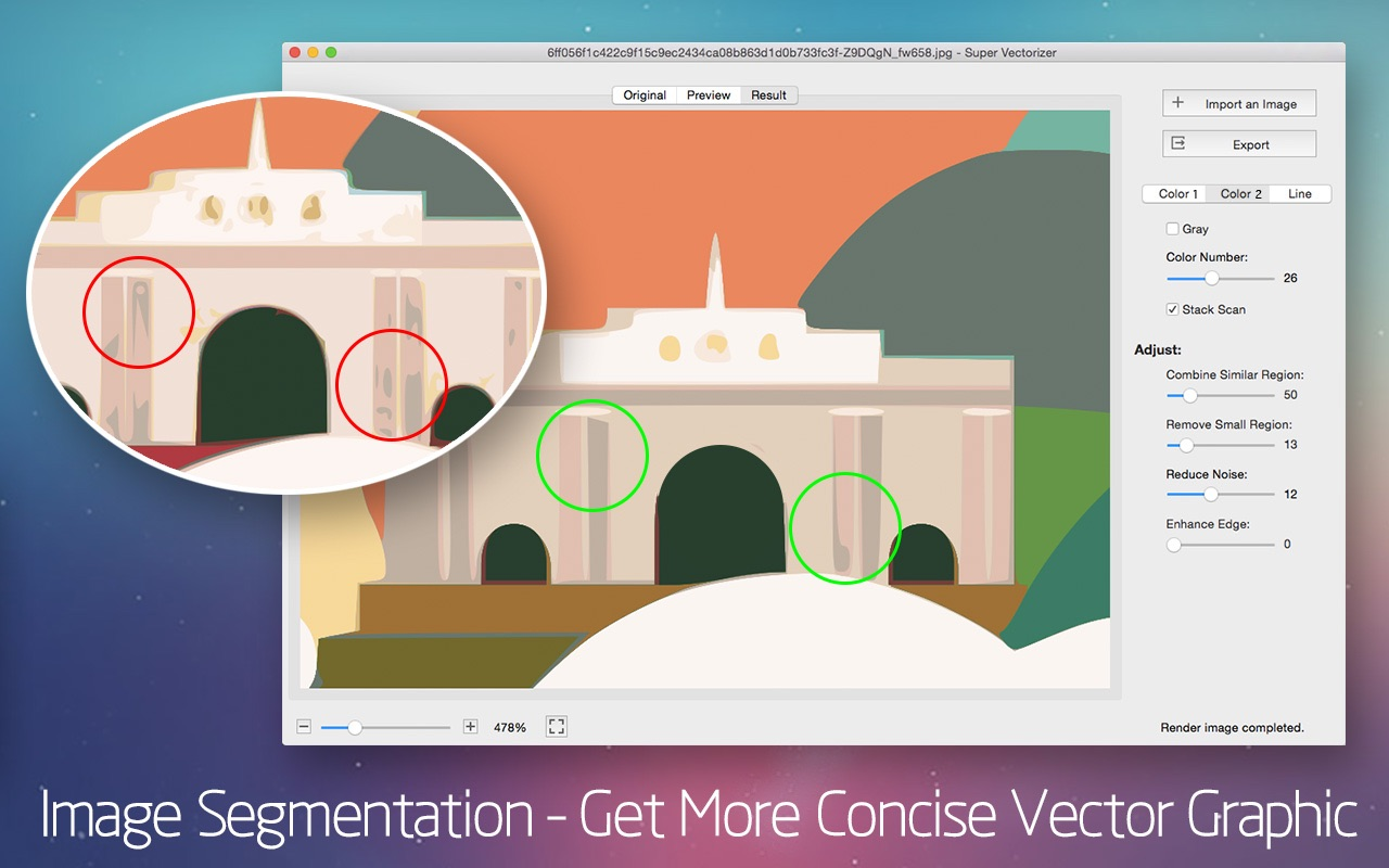 Screenshot do app Super Vectorizer 2 - Vector Trace Tool