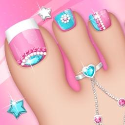 Fashion Nails: Pedicure Game Toe Nail Art Designs